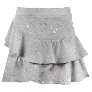 LILI GAUFRETTE Girls Grey Cotton Skirt