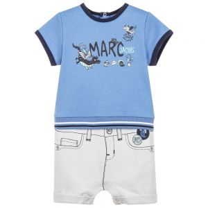 Little Marc Jacobs Boy's Blue And Grey Shortie