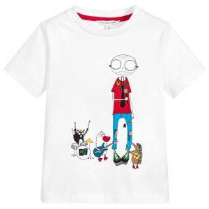 Little Marc Jacobs Boy's Mr Marc White T-Shirt