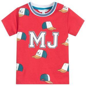 Little Marc Jacobs Boy's Red Logo T-Shirt