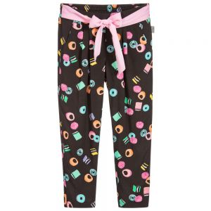 Little Marc Jacobs Girl's Black Liquorice Trousers