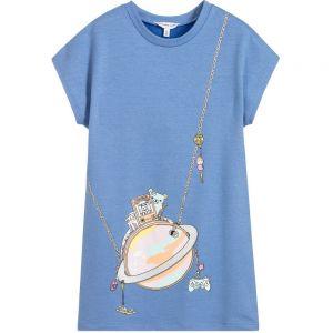 Little Marc Jacobs Girl's Blue Handbag Dress