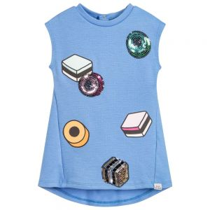 Little Marc Jacobs Girl's Blue Liquorice Sweetie Dress