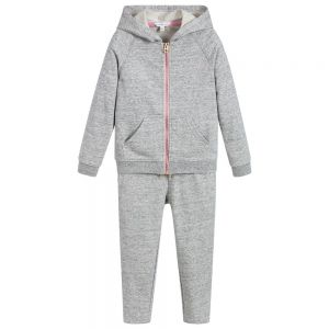 Little Marc Jacobs Girl's Grey Cotton Tracksuit
