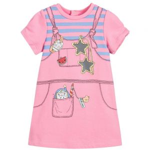 Little Marc Jacobs Girl's Pink Retro Dress