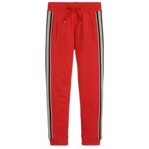 LITTLE MARC JACOBS Girl's Red Jersey Joggers
