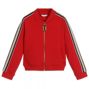 LITTLE MARC JACOBS Girl's Red Zip-Up Top