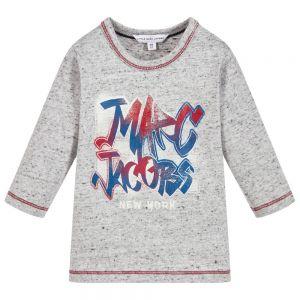 LITTLE MARC JACOBS Little Boys Grey Cotton Top