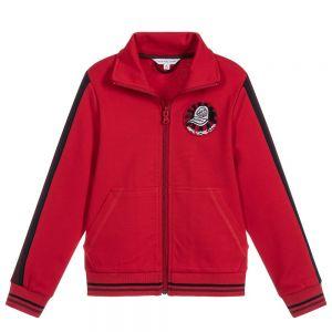 LITTLE MARC JACOBS Boy's Red Zip-Up Top