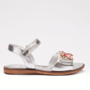LELLI KELLY MATILDE SILVER METALLIC SANDALS