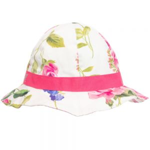 Monnalisa Girls Floral Cotton Sunhat