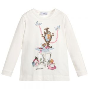MONNALISA Cream Cotton Disney Cinderella T-Shirt