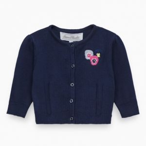 Tartine et Chocolat Girl's Flower Embroidered Cardigan