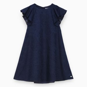 Tartine et Chocolat Girl's Navy Voile Dress