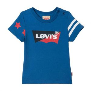 Levi's Baby Boys Blue Bibat Cotton T-Shirt