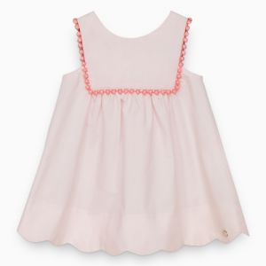 Tartine et Chocolat Pale Pink Sleeveless Bib Dress
