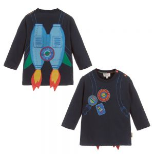 PAUL SMITH JUNIOR Boys Blue Cotton SAMY Top