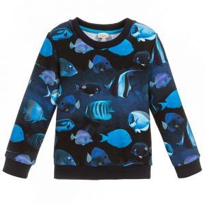 Paul Smith Junior Boys Blue Cotton Tadeo Sweatshirt