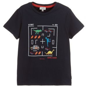 Paul Smith Junior Boys Blue Cotton Tal T-Shirt