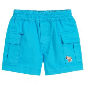 Paul Smith Junior Boys Blue Cotton Toby Shorts