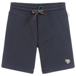 Paul Smith Junior Boys Navy Blue Cotton Toky Shorts