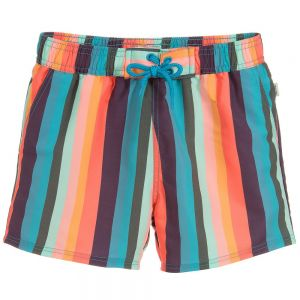 Paul Smith Junior Boys Striped Swim Toshiro Shorts
