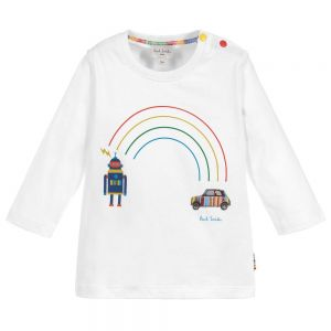 PAUL SMITH JUNIOR Boys White Cotton Santo Top