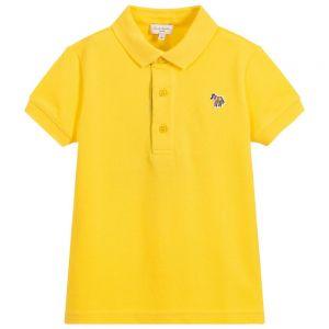 Paul Smith Junior Boys Yellow Cotton Ridley Polo Shirt