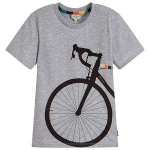 Paul Smith Junior Grey Cotton TEDRA T-Shirt