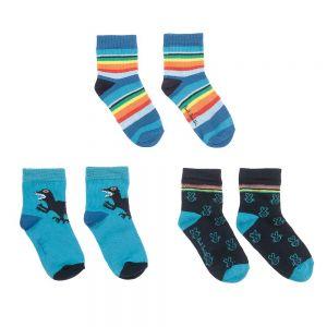 Paul Smith Junior Blue Cotton Teseo Socks (3 Pack)