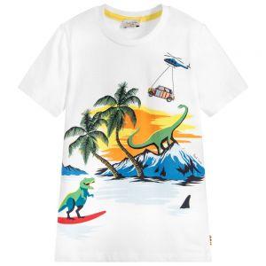 Paul Smith Junior White Cotton Thimoty T-Shirt