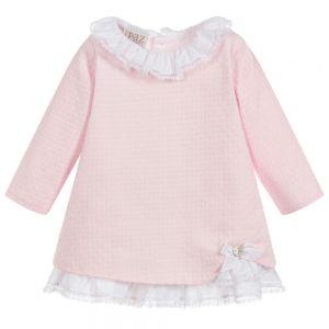Paz Rodriguez Baby Pink Cotton Dress