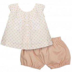 Paz Rodriguez Girl's Polka Dot Top and Shorts Set