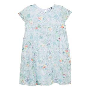 3Pommes Girls Turquoise Green Chiffon Dress