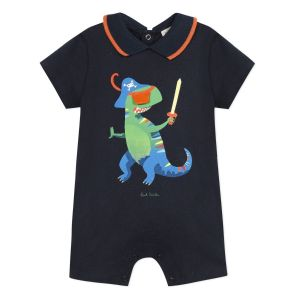 Paul Smith Junior Baby Navy Blue 'Acacia' Jersey Shortie