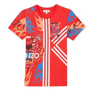Kenzo Kids Red Dragon & Tiger T-Shirt