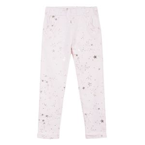 LILI GAUFRETTE Girl's Pink Cotton Joggers