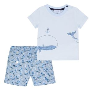 Absorba Baby Boy's Whale Short and T-Shirt Set