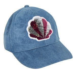 3Pommes Girls Blue Sequin Shell Cap