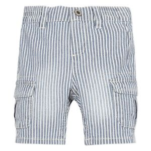 3Pommes Boys Blue and White Pin Striped Cotton Shorts