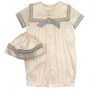 Sarah Louise Baby Boy's Silk Sailor Suit And Hat