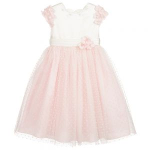 Sarah Louise Pink And Ivory Tulle Dress