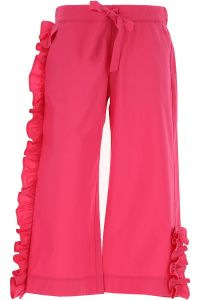 Simonetta Pink Ruffled Culottes