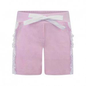 Simonetta Girl's Pink Broiderie Anglaise Shorts