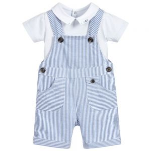 Tartine et Chocolat Boy's Striped Dungaree Set