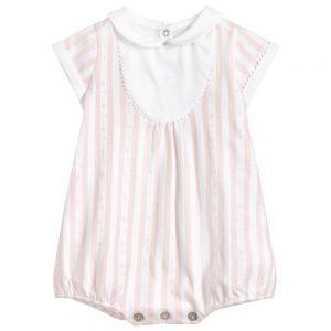 Tartine et Chocolat Pink Striped Cotton Shortie
