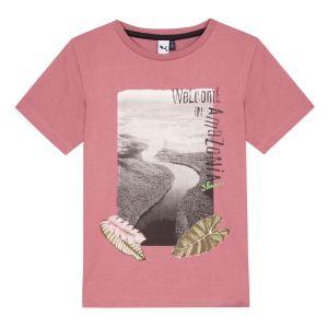 3Pommes Boys Pink  Cotton Beach T-Shirt