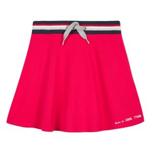 3Pommes Red Jersey Skirt