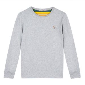 PAUL SMITH JUNIOR Boy's Grey Cotton Sullvann 2 Top