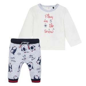 3Pommes Baby Boys Penguin Set